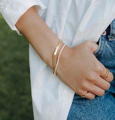 UNIQUE DETAILS Engraved & Baguette Tennis Bracelet #choosehandmade #evesjewel Baguette, Unique, Eve, Tennis, Jewels, Detail, Instagram, Bracelets, Gold