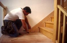 Install a skirt board on stairs