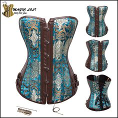 Sexy Leather Steel Boned Corset Waist Training Corsets Steampunk Gothic Corselet Overbust Body Shaper Bustiers