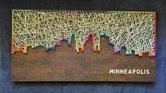 Custom Minneapolis Skyline String Art by CactusCustomDesigns