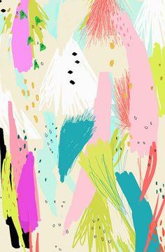 ashley goldberg, abstract vibrant art!