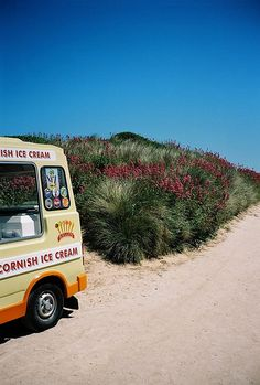 Ice Cream Van. Constantine Bay, Cornwall