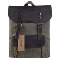 TOP-BAG®Women Vintage Canvas Leather Shoulder Bag Backpack Weekender Bag Rucksack Satchel, MC2166, http://www.amazon.com/dp/B00OSY0LDU/ref=cm_sw_r_pi_awdm_jM7Eub0EA5RP6