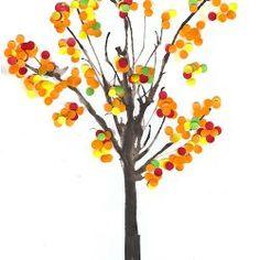 Autumn Crafts, Autumn Art, Autumn Theme, Autumn Leaves, Fall Trees, Kids Crafts, Arts And Crafts, Tree Crafts, Autumn Activities