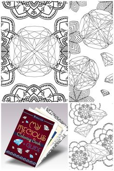 Printable Gemstone Coloring Pages For Grown Ups Diamond