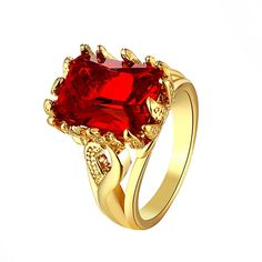 Find More Rings Information about Uloveido Red Simulated Gemstone Rings for Women Charms Rose Gold Plated Wedding Ring Fashion Jewelry Acessorios Para Mulher R101,High Quality ring charms,China gemstone ruby Suppliers, Cheap gold plated jewelry from Ulovestore Jewelry on Aliexpress.com