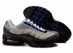 Nike Air Max 95 Mens White Dark Grey Blue Trainers UK