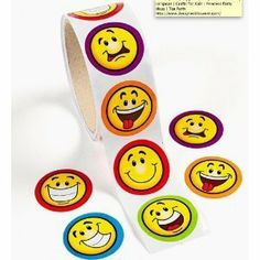 Goofy Smile Face Stickers (1 roll)