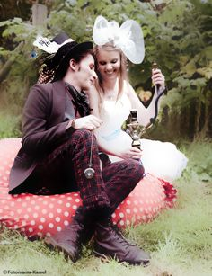 Alice im Wunderland Hochzeit - Alice in Wonderland Wedding mit im Hochzeitsfieber und Fotomania Kassel