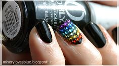 Rainbow Rhinestones!  by QueenMiSeRy @ miserylovesblue.blogspot.it