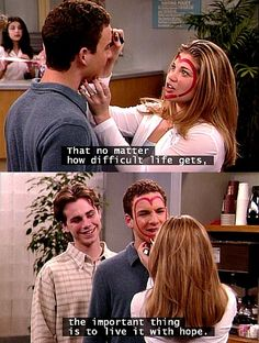 Boy Meets World. Cory & Topanga. Gives hope for the rest of us that love really is out there.