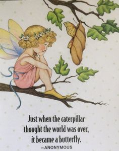 Just When The Caterpillar Thought The World Was Over-Handmade Fridge Magnet