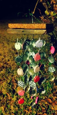 Bottle cap wind chime! Not hard to make and chimes good too! :)