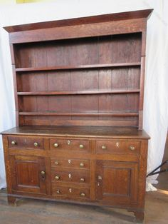 A good, solid Georgian oak dresser which appears untouched by restoration. The colour is good and well patinated. It has a missing keyhole decoration but is otherwise very sound. c1800. Antiques Atlas Welsh Dresser, Oak Dresser, Kitchen Dresser, Antique Dressers, Solid Oak, Georgian, Restoration, Colour, Country