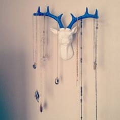 Seven Cherubs: stag head jewellery storage idea