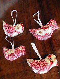 Lavender Sachet  Little Birds in Patchwork by quiosquedetrapos, $11.00