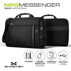 Removable, rechargeable 16,000mAh Battery. The built-in battery system charges the average smartphone and includes Apple, Micro-USB and a 2 USB Ports. Charge literally hundreds of devices including smartphones, eReaders and many tablets. Tablets must be charged with their own 2 USB cable through NRGbag's on-board USB port.