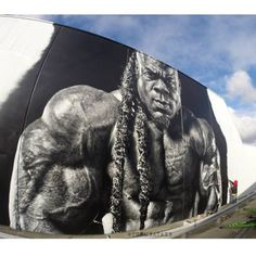 """Kai Greene""  CLAP! - ""Nitro Gym"", Hallam, Victoria, Australia.  #clap #nitrogym #hallam #victoria #australia #graffiti #streetart #urbanart #kaigreene #elgraffiti #art #mural @themeataxe"