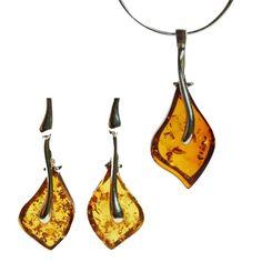 Pretty designer shaped amber drop jewellery. #notonthehighstreet #jewellerylove…