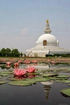 World Peace Pagoda: Buddha: Lumbini: Nepal: