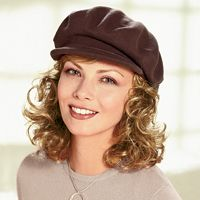 Hats with Hair for Cancer & Chemotherapy Patients - TLC Direct  Also hair, eyebrow stencils...