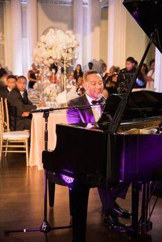 John Legend serenading the bride and groom in the Georgian Ballroom! | Biltmore Ballrooms | Atlanta Wedding | Justin DeMutiis Photography
