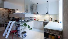 incredible solutions in a 36 kvm city apartment!