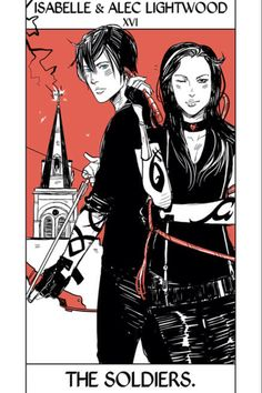 Brother x Sister Alec and Izzy Lightwood The Mortal Instruments Tarot cards