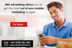 Are you looking to advertise your business door to door use our www.ebulksmsindia.in/ bulk sms marketing service and make your business popular. # http://www.ebulksmsindia.in/