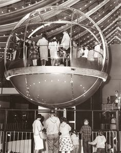 Bubbleater at the 1962 Worlds Fair  lifted hundreds of visitors each day to the World of Tomorrow. The Space-Age elevator could hold up to 150 people. -- I remember this! It's tragic that they junked it.