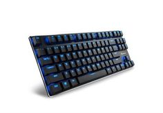 Sharkoon PureWriter TKL Mechanical USB lkeyboard with Blue LED illumination – MAX Polling Rate – Blue, Retail Box , 1 Year warranty Retail Box, Computer Keyboard, Gaming, Usb, Videogames, Keyboard, Games