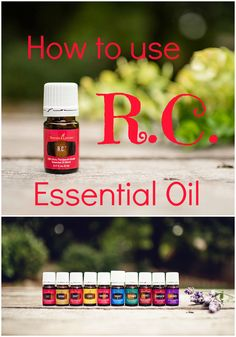 R.C. Essential Oil Young Living - Three ideas for supporting your respiratory system in an all natural way! R.C. is an essential oil blend composed of Lavender, Eucalyptus, Myrtle, Marjoram, Pine, Cyprus, Black Spruce, and Peppermint.