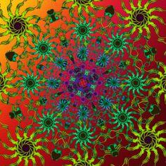 envol des idées ! flight of ideas ! fuga de idéias ! Mandala de Pierre Vermersch Digital Drawings