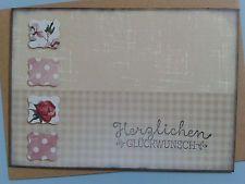 Karte Doppelkarte Glückwunschkarte z.B. zum Geburtstag Muttertag - Stampin up
