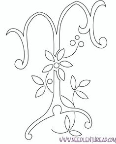 on quilling letters template family h