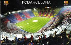 Beautiful Camp Nou, the home of FC Barcelona. I want to watch a game here with my boys.