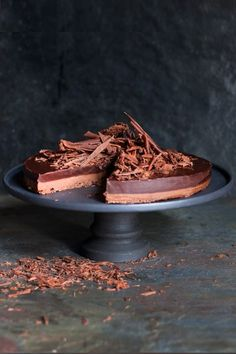 This ganache tart consists of two layers, a milk and a dark chocolate layer. It is incredibly rich and makes a divine dessert served with vanilla ice cream.