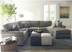 This Is Our Couch Haverty S Piedmont Floored Sectional In The