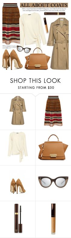 """ALL ABOUT COATS"" by ifchic ❤ liked on Polyvore featuring RED Valentino, Theory, ZAC Zac Posen, Dee Keller, Le Specs Luxe, Tom Ford, Becca and contemporary"
