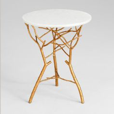 Golden Twig Modern Side Table