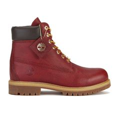 Timberland Men's Icon 6 Inch Premium Leather Boots ($295) ❤ liked on Polyvore featuring men's fashion, men's shoes, men's boots, men's work boots, red, mens red boots, mens boots, mens work boots, mens water proof boots and mens leather work boots