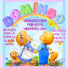 Domingo. Gracias Dios por todo. Happy Week, Smurfs, Good Morning, How To Apply, Inspirational Quotes, Messages, Feelings, Day, Fictional Characters