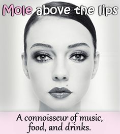 Moles on lips meaning