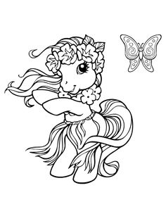 My Little Pony Mon Petit Poney http://www.kidzeo.com/coloriage/
