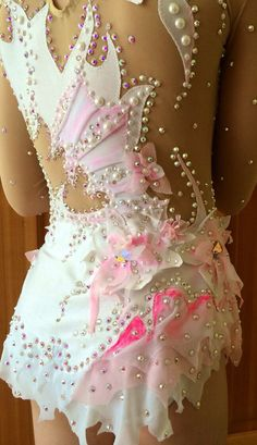 SOLD. Shown as an example of work I do. Enquire about your custom leotard today. Thank you for your interest!  Lana
