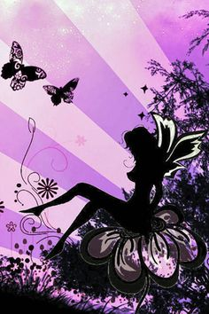 Butterfly Fairy iPhone Wallpaper