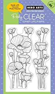 Amazon.com: Hero Arts Delicate Blossoms Polyclear Stamp ...