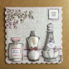 Perfume Bottles | docrafts.com Pocket Pal, Card Making Templates, Craftwork Cards, Perfume Making, Birthday Cards For Women, Pocket Letters, Vintage Ephemera, Cute Cards, Making Ideas