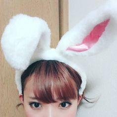 うさぎ耳昨日もらいました . #me#selfies#selfshot#cute#rabbit#うさ耳#disney#easter#mimmam_mam by mam_11_11