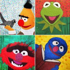 I've been watching @camelidquilter make these appliqué Muppets blocks and I had to share. Not gonna lie, they just make me smile! Check out her feed to see even more! Who was your favorite Muppets character? I was always partial to the Swedish chef and Beaker & Bunson! -- #workingmystashoff #stashfabrics #applique